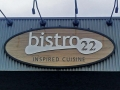 Bistro 22 building style sign