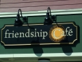 Carved Sign for Friendship Cafe