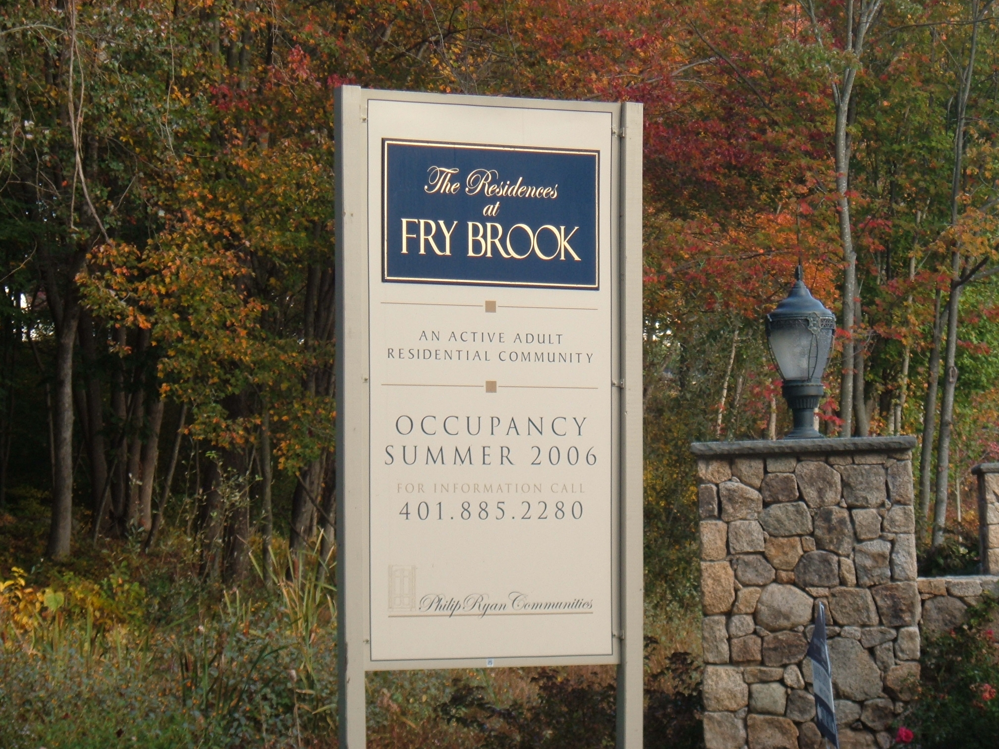 Frybrook Project Site Signage