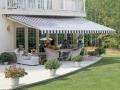 Deck retractable awning