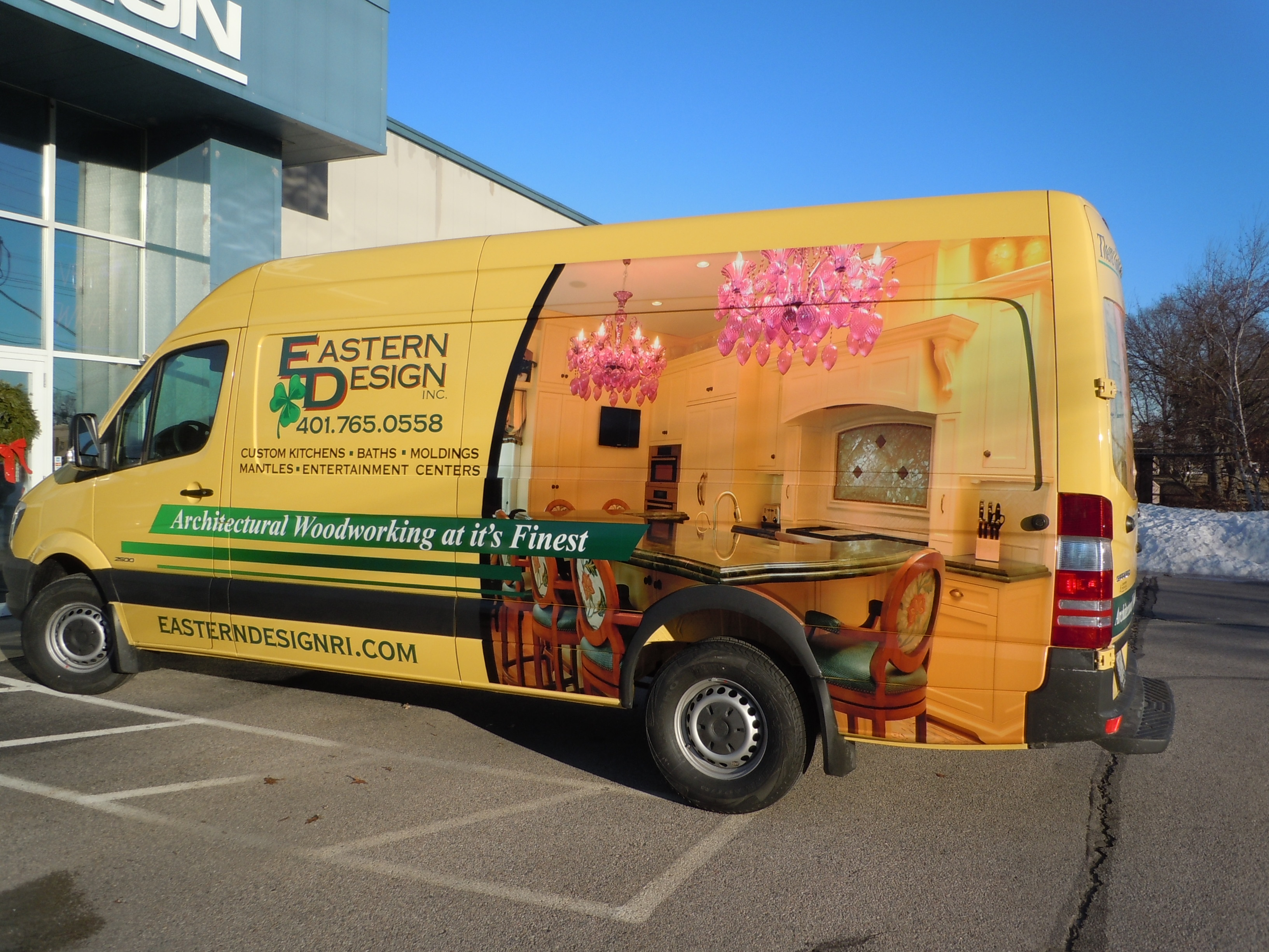 Vehicle wrap for Eastern Design