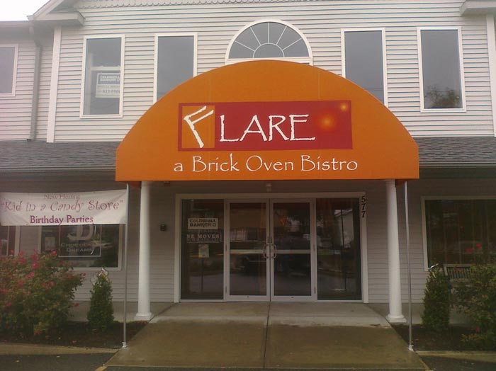 Awning sign for Flare