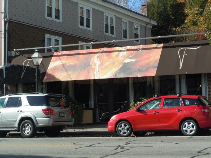 fresco east awning sign