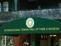 Awning sign for tennis hall of fame