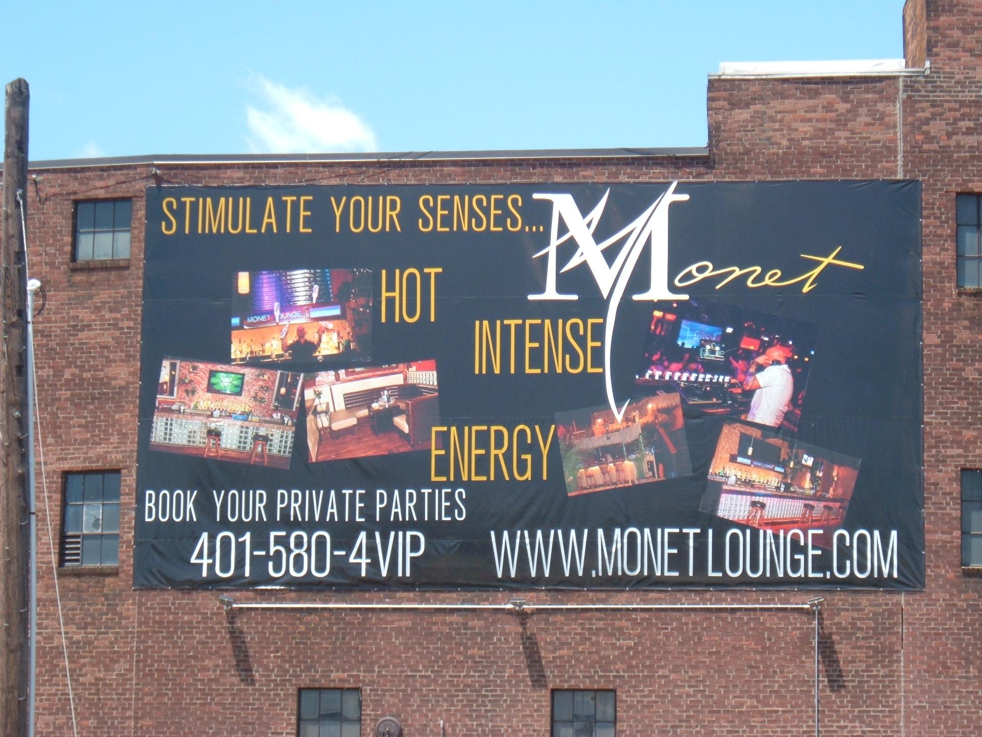 monet banner sign