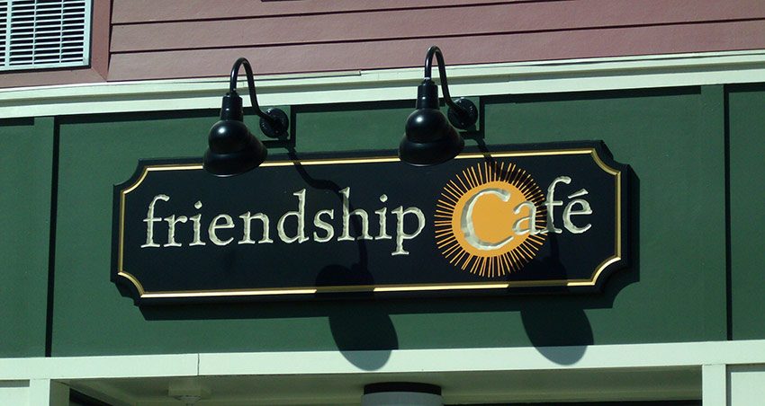 friendship cafe building sign