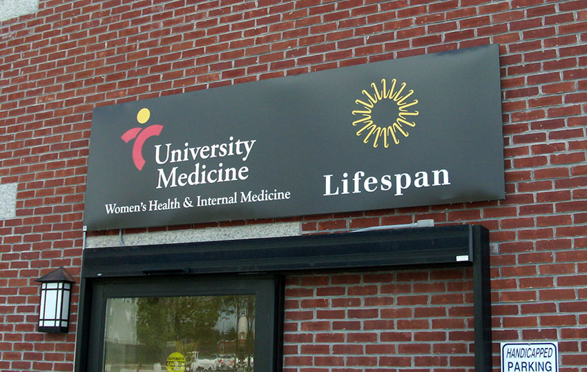 university medicine building sign