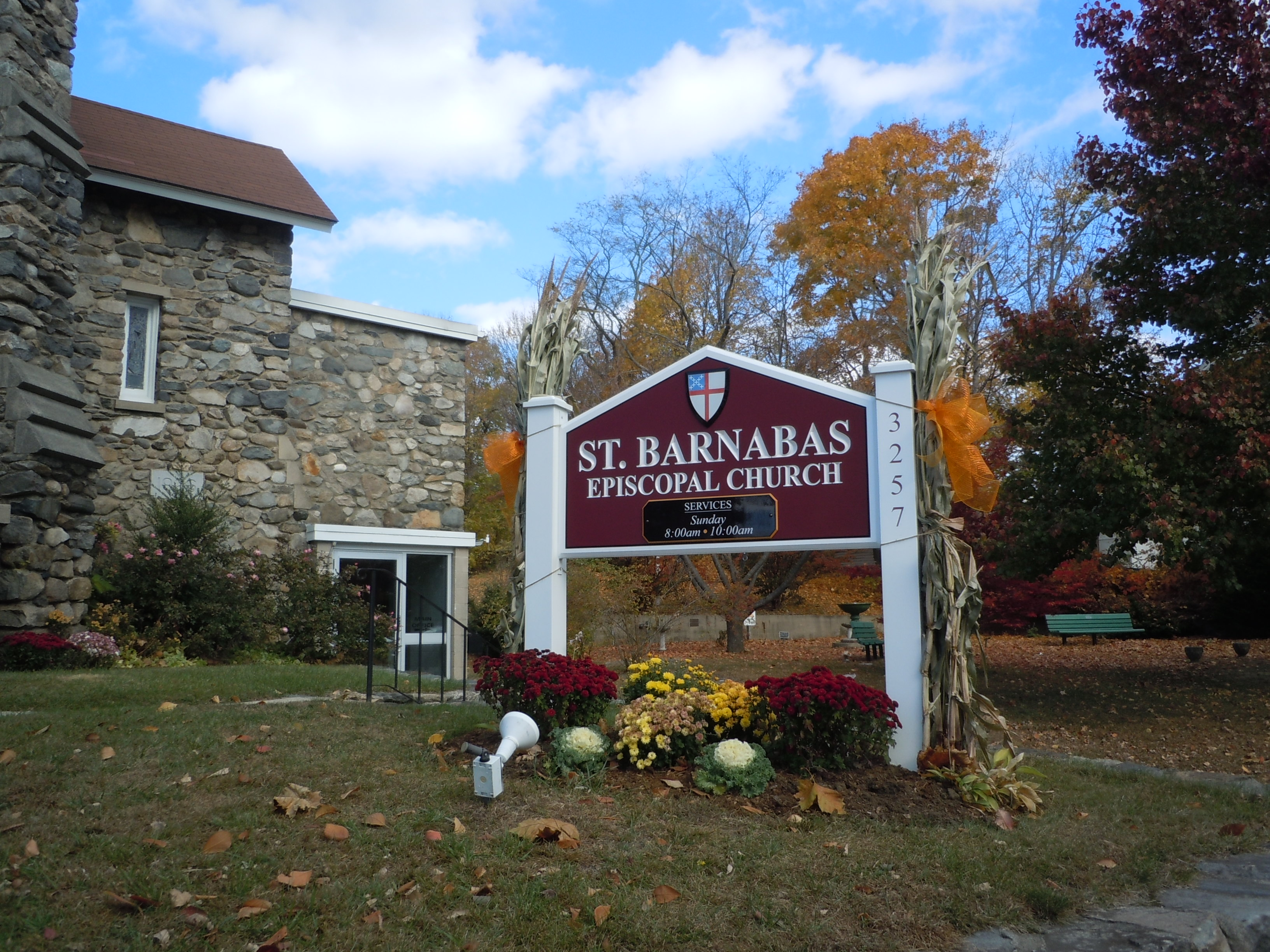 Saint Barnabas Carved Sign