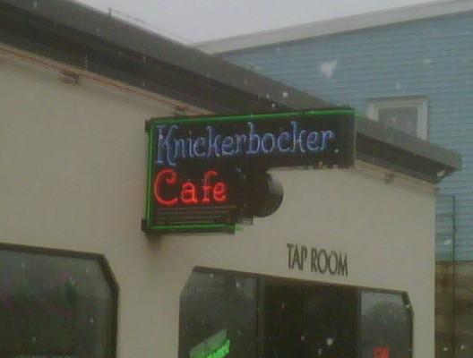Knickerbocker Cafe Neon Sign