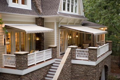 Home retractable awnings