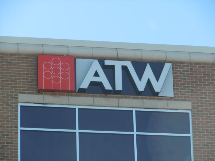 at-wall channel letter sign