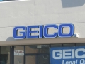 geico channel letter sign
